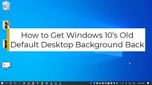 Old Default Desktop Background Back ...
