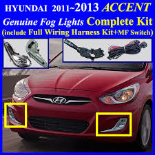 2012 2013 2014 2015 hyundai accent fog light lamp complete kit 3 user s instruction and wiring diagram