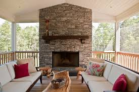 fireplace without mantle family room contemporary with stone