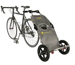 travoy bike cargo trailer on bike