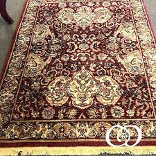 golden age collection red gold area rug and green