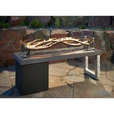Outdoor GreatRoom Company Naples Coffee Table With Natural Gas Outdoor Great Room