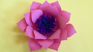 How To Make A Lotus Flower Out Of Paper How To Make Lotus Flower Out Of Color Paper Christmas Tree