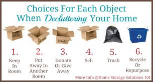 Image result for pictures of decluttering