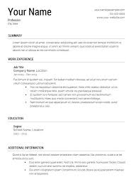 Resume Examples For Beginners Interesting Free Basic Resume Examples Basic Resume Template Examples New Easy