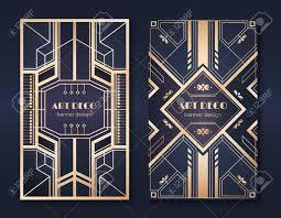 Fancy Flyers Art Deco Banners 1920s Party Invitation Flyer Fancy Golden