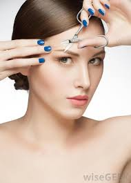 how to trim bushy eyebrows. eyebrows are trimmed to a manageable shape with an eyebrow cut. how trim bushy