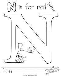 letter n coloring sheets page 2 letters colouring pages to print