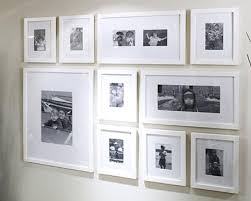 modern white picture frames. Frame Collage White Modern Frames With Grid Arrangement But Different Proportions Of Frames, Including Panoramic Picture N