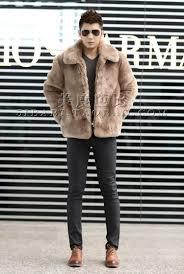 new 2016 winter fashion men faux fur jacket soft and comfortable warm rabbit fur turn down
