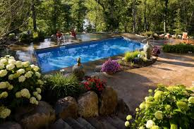 Backyard Pool Landscaping Shaded Backyard Swimming Pool Landscape Southview Design