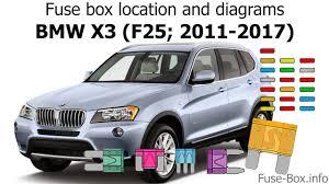 Bmw X3 Fuse Chart Fuse Box Location And Diagrams Bmw X3 F25 2011 2017