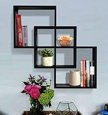 Decorative wall shelving Floating Shelf Image Unavailable Amazoncom Amazoncom Shelving Solution Quadrate Decorative Wall Shelf black