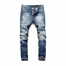 Brand <b>Men Jeans</b> High Quality Straight Slim Fit Frayed Ripped ...