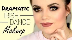 dramatic irish dance makeup tutorial faces by cait b