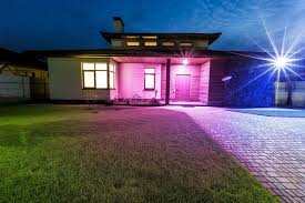 luxury home lighting. wonderful home ilumi smart light bulb detached luxury house at night view from outside  front entrance in luxury home lighting