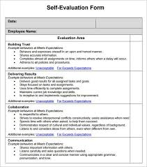 Sample Employee Self Evaluation Form 14 Free Documents In Word