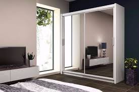 classic brand new 2 or 3 door wardrobe sliding mirror in black white and