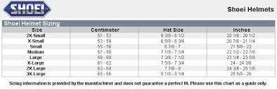 Shoei Nxr Size Chart Shoei Helmet Size Guide Uk Panamerican Electronics