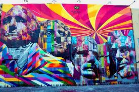 rushmore mural by eduardo kobra photo eduardo kobra on wall mural artist los angeles with giant technicolor mount rushmore mural art nerd los angeles