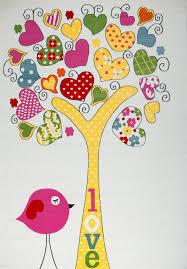 Kinder Teppich Weiss Gelb Rosa Herzhaftes Motiv Baum Vogel ...