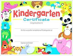 Kindergarten Graduation Certificate Template Free Preschool