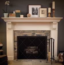 mantel with plain columns frieze transitional molding and corbels