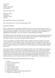 Journalism Internship Cover Letter 12 13 Sample Journalism Cover Letters Loginnelkriver Com