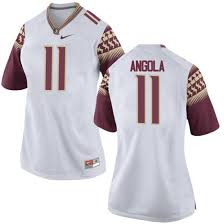 Womens Braian Angola Florida State Seminoles Nike Replica White Football College Jersey