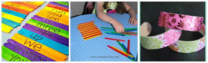 using Popsicle sticks as a learning tool