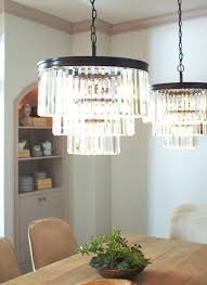 sea gull lighting 4 light chandelier in antique brushed nickel with clear beveled glass replacement panels