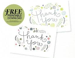 Free Thank You Postcard Template Free Thank You Card Template Free