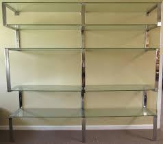 mid century modern chrome bookshelf