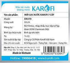 Máy lọc nước Karofi eRO 8 cấp