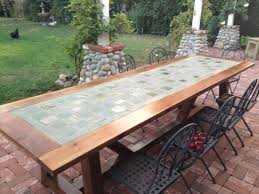 diy outdoor table. Brilliant Tile Patio Table Set 25 Best Ideas About Outdoor Dining Tables On Pinterest Diy
