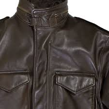 leather m 65 field jacket collar detail