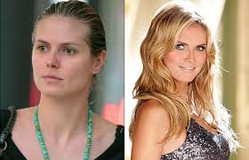 heidi klum before after makeup