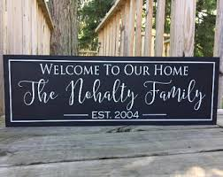 Welcome To Our Home Welcome Sign Signs For The Home Bridal Shower Gift New  Home Housewarming Gift New Homeowners Gifts For New Home Wooden