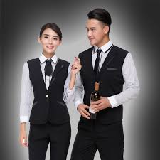 waistcoatt for hotel uniform for hotel coffee long sleeve catering hotel front desk waistcoat uniform in chef jackets from novelty special use on
