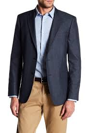Tommy Hilfiger Blue Checkered Two Button Notch Lapel Classic Fit Sport Coat Nordstrom Rack