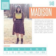 New 2018 Madison Size Chart Lularoe Size Charts