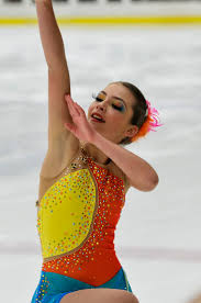 17 best images about beautiful figure skating costume yellow blue and orange skating dress by brad griffies for real in
