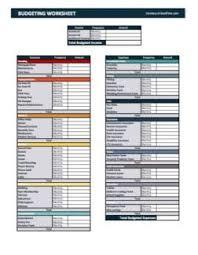 budget plan sheet 7 free printable budgeting worksheets