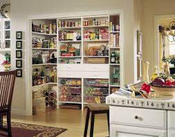 Walk In Kitchen Pantry Open Walk In Kitchen Pantry With Wall Mounted Shelves And Drawers