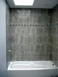 how to install a tub surround photograph of replacing fiberglass with tile stone bathroom su