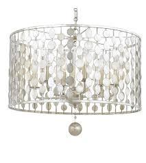 crystorama 546 sa layla 6 light 19 inch antique silver chandelier ceiling light in antique silver sa