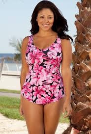 size 18 swimsuit beach belle honolulu pink plus size sarong front swimsuit plus