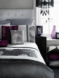 Gray White And Purple Bedroom Ideas 3
