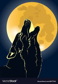 wolf howling at the moon. Modren Wolf Wolf Howling At The Moon Vector Image With Howling At The Moon