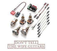 emg erless conversion wiring kit for active pickups emg erless conversion wiring kit for 1 2 active pickups long shaft pots